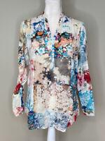 The Nu Vintage NWOT Women's Half Button Floral Top Size M Multicolor N4
