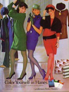 Color yourself in Hanes pantyhose ad 1984 Gentlemen Prefer Hanes