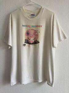Vintage Human Highway Neil Young Devo Men's L Movie Promo Shirt 90s 80s