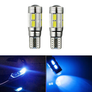 2X T10 501 W5W 8000K CAR SIDE Number Plate LIGHT BULBS WEDGE SMD LED XENON BLUE