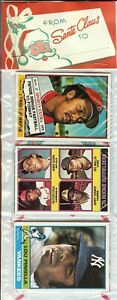 1976 Topps Baseball Holiday Christmas Rack Pack Dennis Eckersley RC? Piniella To