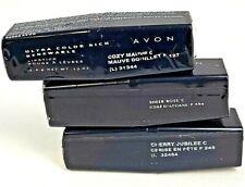3 Avon Ultra Color Rich Renewable Lipstick Cozy, Cherry Jubilee, Sheer Rose NEW