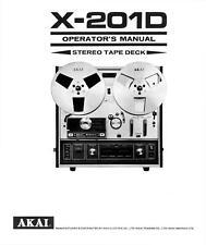 Bedienungsanleitung-Operating Instructions für Akai X-201 D
