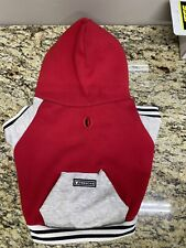 New listing Frenchie Dog hoodie (High school red/grey) (Size L)