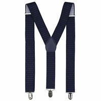 Azul Marino Punto Diseño Para Hombres Caballeros 35mm Ancho Ajustable Tirantes