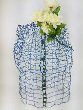 Vintage Blue My Double Dress Form Metal Wire Adjustable 26 Tall