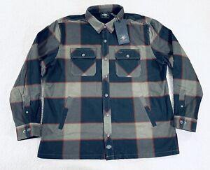 Harley Davidson Lined Printed Corduroy Shirt Jacket Plaid Mens Size XL New