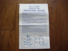Lionel No. 365 Dispatching Station Instruction Sheet