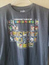 Super Mario Bros 2XL Nintendo Periodic Table of Super Mario Mens Graphic T Shirt