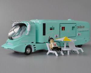1:50 Diecast Metal Caravan Model Colani Luxury RV Pull Back Camper Van With S&L