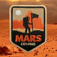 Mars Explorer Patch Embroidered Iron / Sew Badge NASA Space Craft Occupy Mars