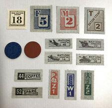 OPA Ration Stamp LOT World War 2 WWII U.S. 1943 vintage blue red token points