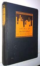 Archy & Mehitabel, Don Marquis, 1930, Doubleday Doran - Vintage 1st ed, VG