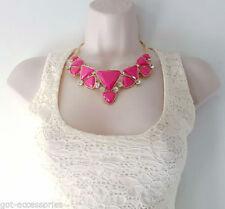 Crystal Acrylic Statement Costume Necklaces & Pendants