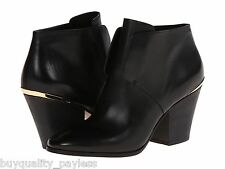 Cole Haan Hayden Bootie Black Leather Ankle Designer BOOTS Womens 6 NEW IN BOX