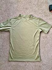 Genuine British Military Army Light Olive Coolmax T-Shirt Combat Gym Top. Medium