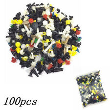 100pcs Auto Car Various Plastic Rivet Fasteners Push Pin Bumper Fender Panel New