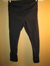 NEED MENDING Women's LULULEMON RUN Inspire Stretch CROP LEGGINGS Size 4 Black