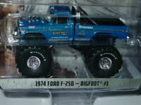 GREENLIGHT 1974 74 FORD F-250 BIGFOOT #1 MONSTER TRUCK BLUE w/LARGE TIRES! MIP