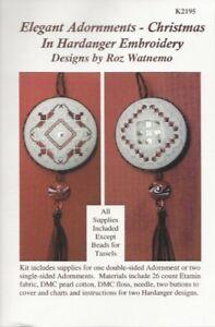 REDUCED! Elegant Adornments Christmas Hardanger Kit - Roz Watnemo