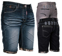 Geographical Norway Herren Bermuda Shorts Jeansshorts lang knielang Jeans Hose