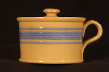 RARE 1800s 6 BLUE BANDED MUSTARD POT YELLOW WARE