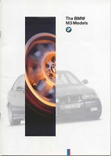 BMW M3 1995-96 Original UK Sales Brochure Saloon Coupe Convertible 3-Series E36