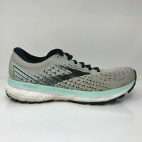 Brooks Womens Ghost 13 1203381B073 Gray Mint Running Shoes Lace Up Size 10 B