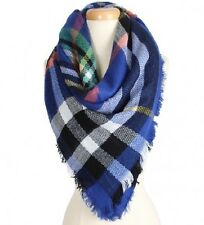 Blue and Multi Colored Blanket FASHION Scarf