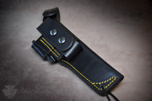 Spyderco Knives 'The Colony' Custom Leather Bushcraft Sheath