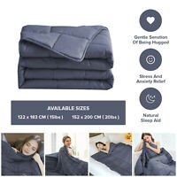 Weighted Blanket Adult Double Gravity Sensory Sleep Therapy Reduce Anxiety Bed