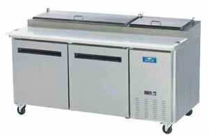 """Arctic Air APP71R 71"""" Stainless Commercial Refrigerated Pizza Prep Table NEW!!"""