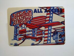 Jefferson Airplane Backstage Concert Pass Original 1989 All Access USA Planes