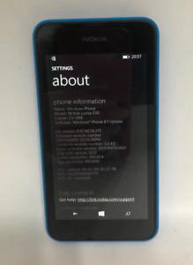 Unlocked Nokia Lumia 530 Microsoft Windows Mobile Cellular Cell Phone 4GB Blue