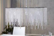 Lámpara colgante de iluminación de techo de interior de cromo de grande (más de 70 cm)