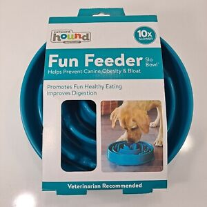 """Outward Hound Fun Feeder Slow Feed Interactive Bloat Stop 11"""" Dog Bowl"""