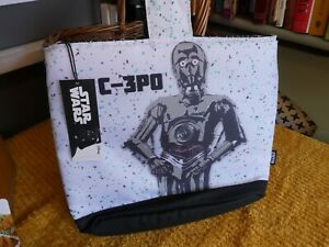 STAR WARS DISNEY DROIDS LUNCH / COOLER BAG WITH ORIGINAL TAG, NEW