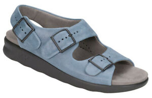 SAS Relaxed Sandal Denim, Women's Shoes, Many Sizes & Widths