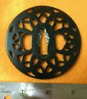 NEW! Black Round Steel Decorative Tsuba part for Japanese Katana Sword