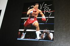 """VINNY PAZ SIGNED 8X10 PHOTO """"BLEED FOR THIS"""" 5X CHAMPION PAZIENZA POSE 2"""