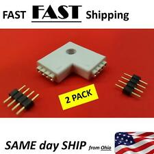 """Special Connector 4pin - """"L"""" shape push pin corner connector LED Strip 3528 5050"""