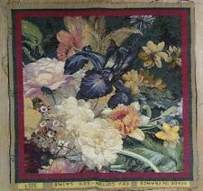 """Flowers Fine French Medieval Design Tapestry Seat Cushion Pillow Cover 19"""" x 19"""""""
