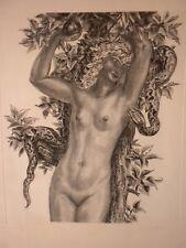 """ART DÉCO :  DECARIS ALBERT  """" ÈVE """" (AVANT LE PÉCHÉ ) LITHOGRAPHIE Nº 115/200"""