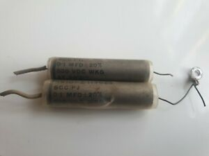 0.1uF MFD 500V ±20% SCC TCC TYPE SUPER METAL PACK CERAMIC END CAPACITOR  (L1B41)