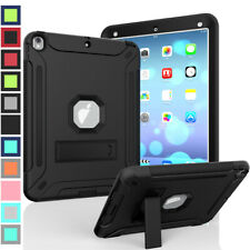 For iPad 2 3 4 5th 6th Gen Shockproof Case Rubber Ruged Plastic Stand Cover 9.7""