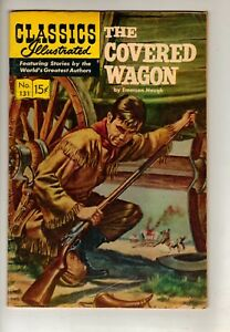 COVERED WAGON-CLASSICS ILLUSTRATED COMIC BOOK-MARCH 1956-VG 75% PRICE CUT