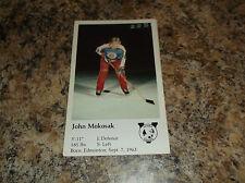 1981-82 VICTORIA COUGARS JOHN MOKOSAK WHL PLAYER CARD