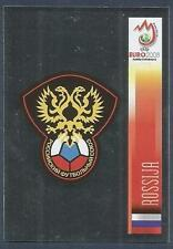PANINI EURO 2008- #441-ROSSIJA-RUSSIA TEAM BADGE-SILVER FOIL