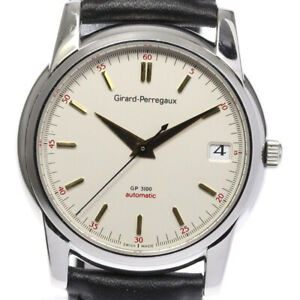 GIRARD-PERREGAUX Gold Plated3100 9043 Date Silver Dial Automatic Men's_625298