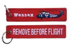 RAN Westland Wessex Mk.31B Remove Before Flight Key Ring Luggage Tag